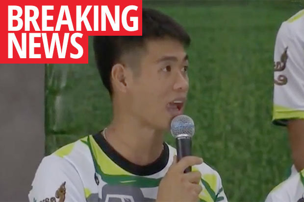BREAKING: Thai boys drank RAIN WATER to survive before 'miracle' cave rescue