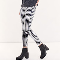 Pantalon imprimé rayures