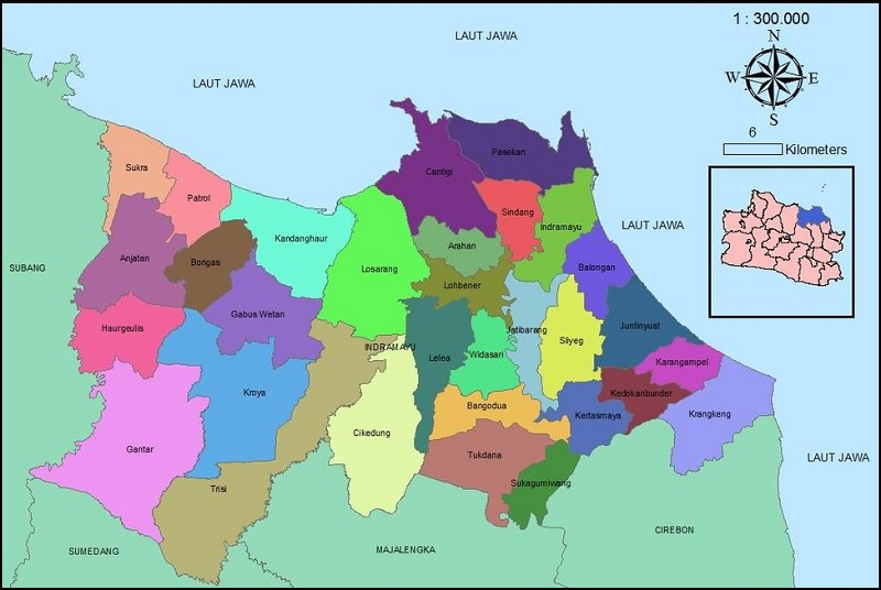 Peta Kabupaten Indramayu