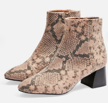 Topshop Snakeskin Boots - My Top High Street Finds #3 - The Autumn Edit // Lauren Rose Style // Fashion Blogger London Wishlist