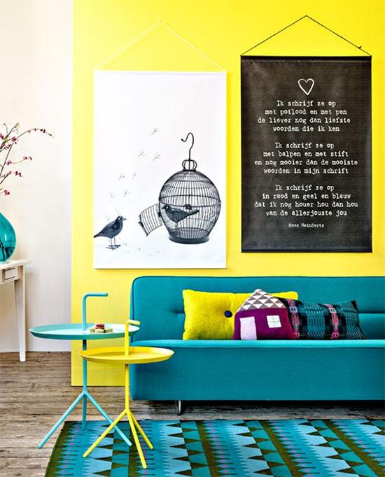 sala, parede amarela, yellow wall, decor, home decor, decoração, sala decorada, almofadas coloridas