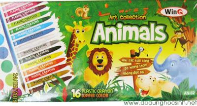 Bút sáp bộ Animals 16 màu WinQ