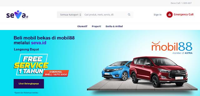 Seva.id - Situs Jual Beli Kendaraan Mobil Bekas di Indonesia