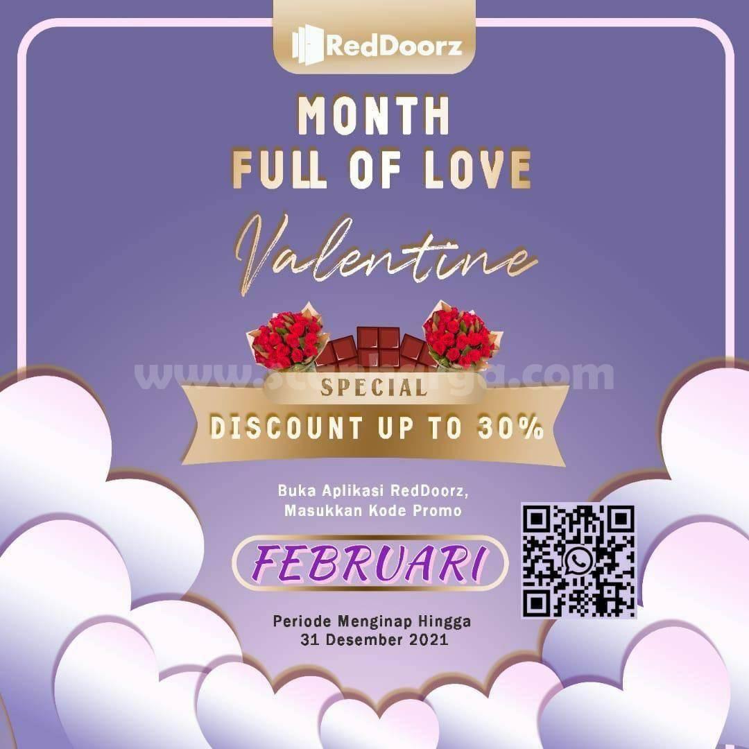 RedDoorz Promo Month Full Love Valentine! Special Discount up 30%