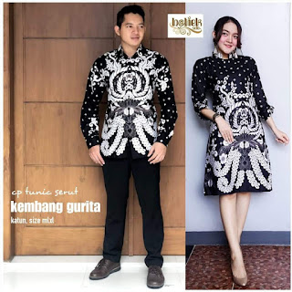 Batik Couple Batik Tunik Serut Kembang Gurita