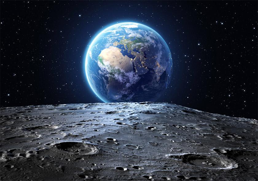 Приблизно так виглядає Земля з поверхні Місяця