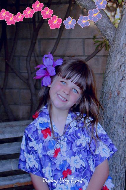 Girl Tropical Hawaiian Shirt Style