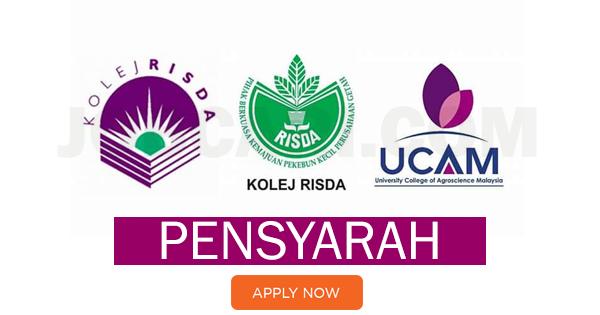 Jawatan Kosong Pensyarah Di Kolej Universiti Agrosains Malaysia Ucam Gaji Rm4 891 00 Rm7 989 00 Jobcari Com Jawatan Kosong Terkini