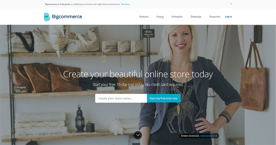 BigCommerce online shop builder