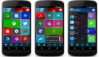 Win 10 Launcher Pro v2.2 Apk – Tema Windows 10 di Hp Android