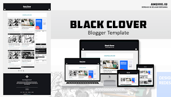 Black Clover GRID Style Blogger Template