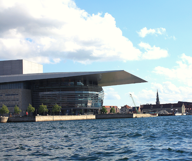 Sailing by the aesthetically pleasing and intriguing Copenhagen Opera House on a Copenhagen canal boat tour
