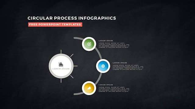 Circular Process Diagram Infographic Free PowerPoint Template Slide 6