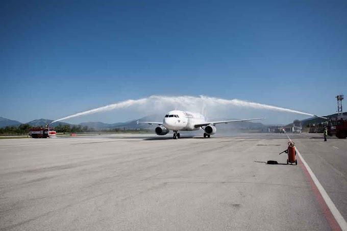 Erste Eurowings Maschine aus Stuttgart landete in Ohrid