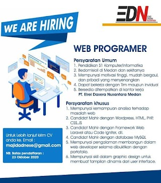 Web Programmer di PT Elrei Dasera Nusantara