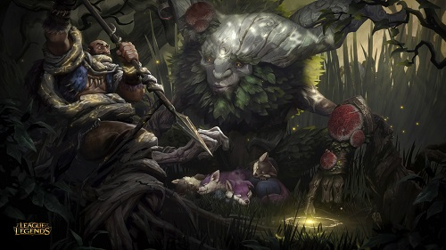 Tướng Ivern mang hình hài nửa người nửa cây, là một vị thiện thần mang lại sự sống và kiến thức