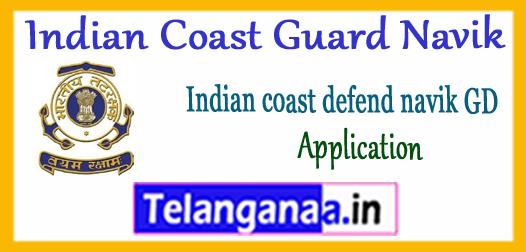 Indian Coast Guard Navik GD Application 2017-18 Notification