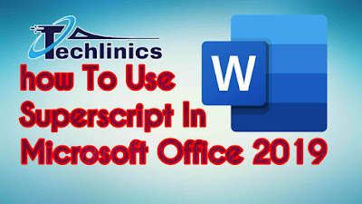 How-to-use-superscript-in-microsoft-office-2019