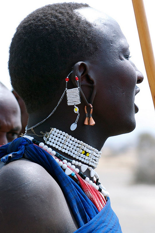 Traditional Maasai culture. Maasai ears are a work of art. photo by c3lsiusbb
