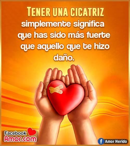 corazón herido en la mano