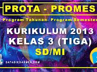 Prota dan Promes Kelas 3 SD/MI Kurikulum 2013 Tahun Pelajaran 2020 - 2021
