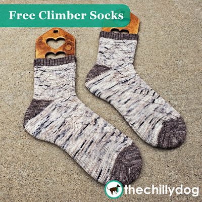 Free Climber Socks Knitting Pattern - Learn new skills while you knit gender neutral socks with multiple sizing options. Worked from the toe up, with wrap and turn short row toes and flap-free, gusset (or Fleegle) heels.