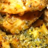 Garlic Pesto Chicken Recipe with Tomato Cream Penne