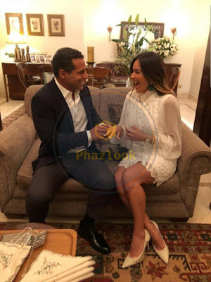 خطوبة الفناة أمينة خليل للمهندس ورجل الأعمال عمر طه