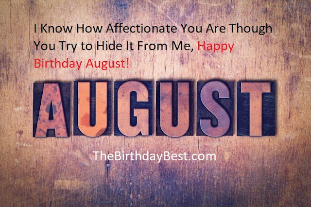 Happy Birthday Wishes for August Born