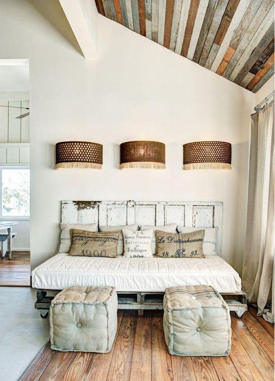 decoração reciclada cama pallete porta cabeceira