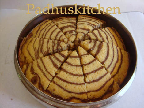Zebra Cake RecipeMarble CakeZebra Pattern Padhuskitchen