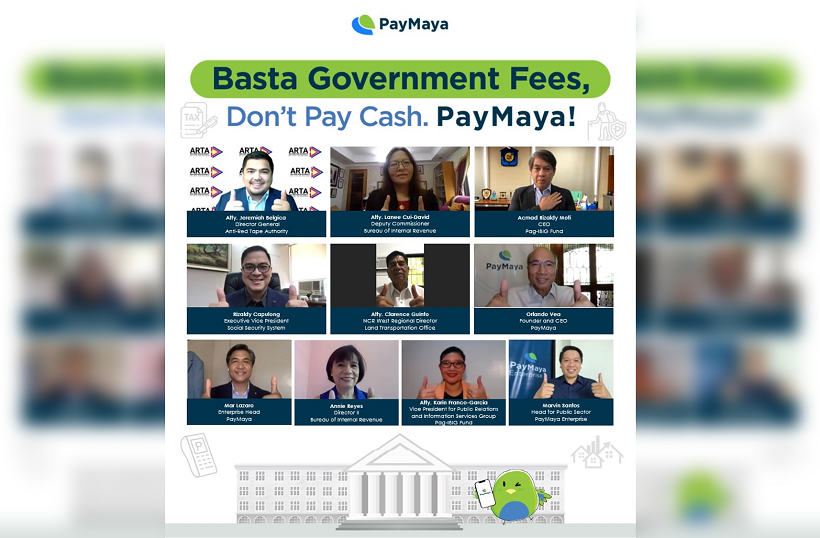 PayMaya Goverment Agencies Payment