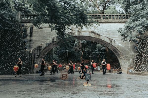 卦山力藝術祭盜火劇團 紀錄劇場八卦山銀橋上演