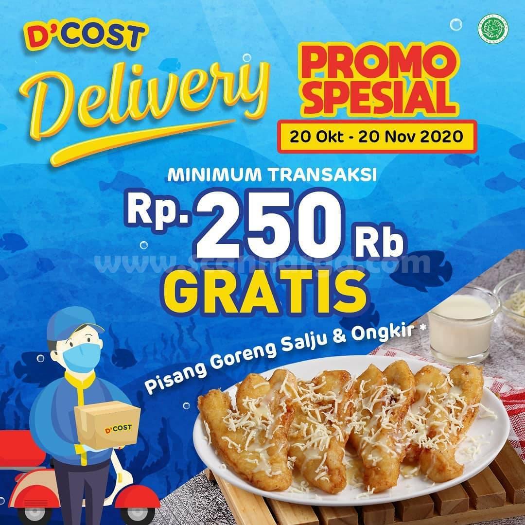 Promo DCOST Spesial Gratis Pisang Goreng Salju + Ongkir Delivery