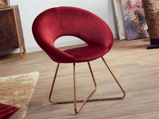 sillas salon estilos actuales color rojo