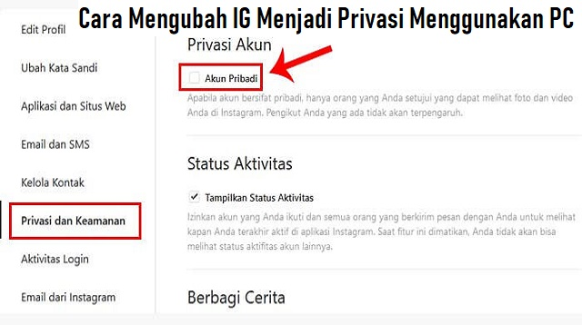 Cara Mengubah IG Menjadi Privasi