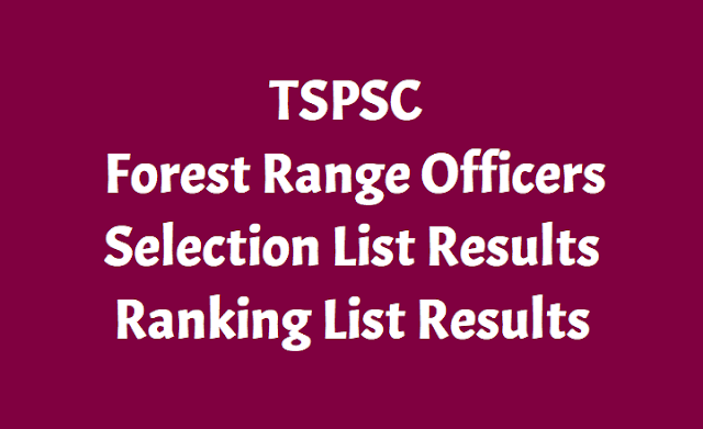 TSPSC Forest Range Officers Results