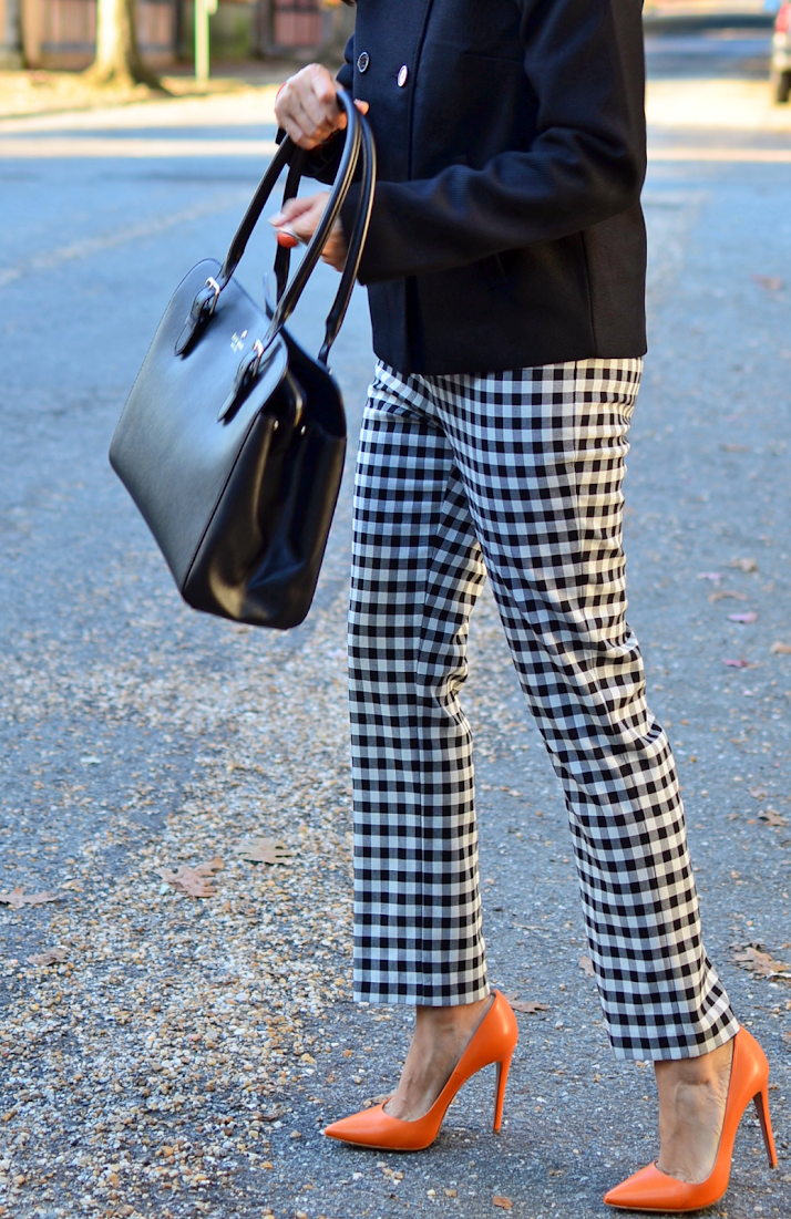 Gingham Plaid Pants