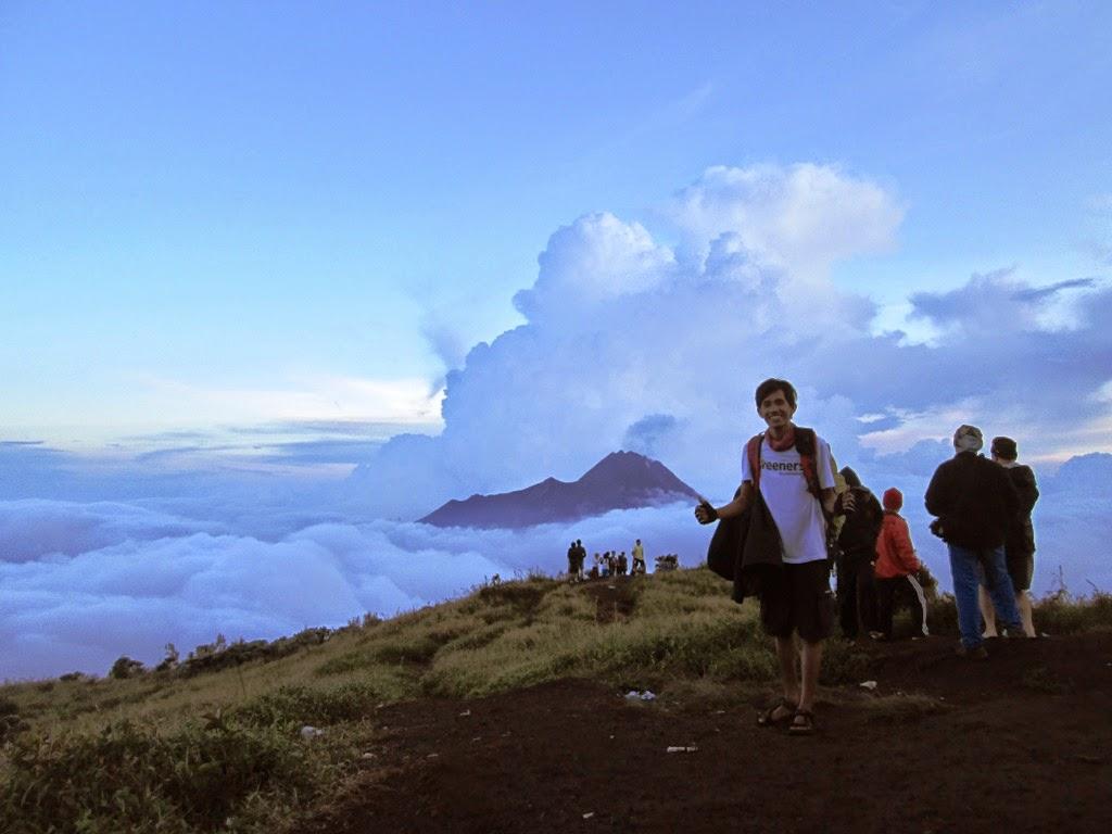 Terlihat Gunung Merapi dari  Pos 3