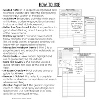 American History Guided Notes, American History Interactive Notebook, Google and Print, American History Note Taking, American History PowerPoints, American History Anticipatory Guides