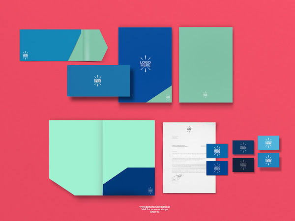 Download Stationary Mockup Template Free