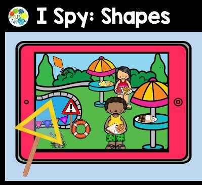 Digital Shape Detective Activity | Apples to Applique
