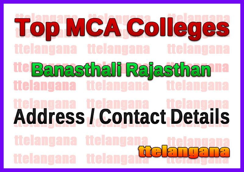 Top MCA Colleges in Banasthali Rajasthan