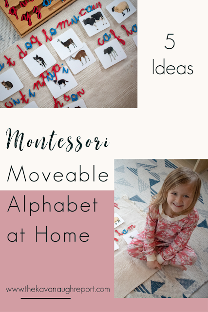 5 ways to use a Montessori moveable alphabet at home