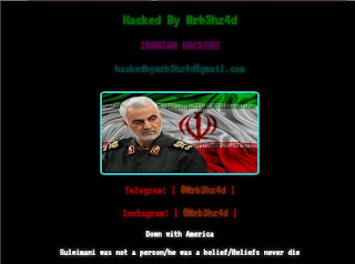 Defaced page hacked by Iran Teen