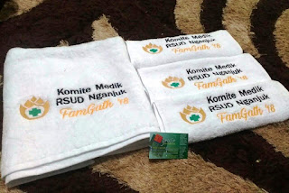 Contoh Handuk Bordir Rumah Sakit - RSUD Nganjuk, pakai handuk hotel