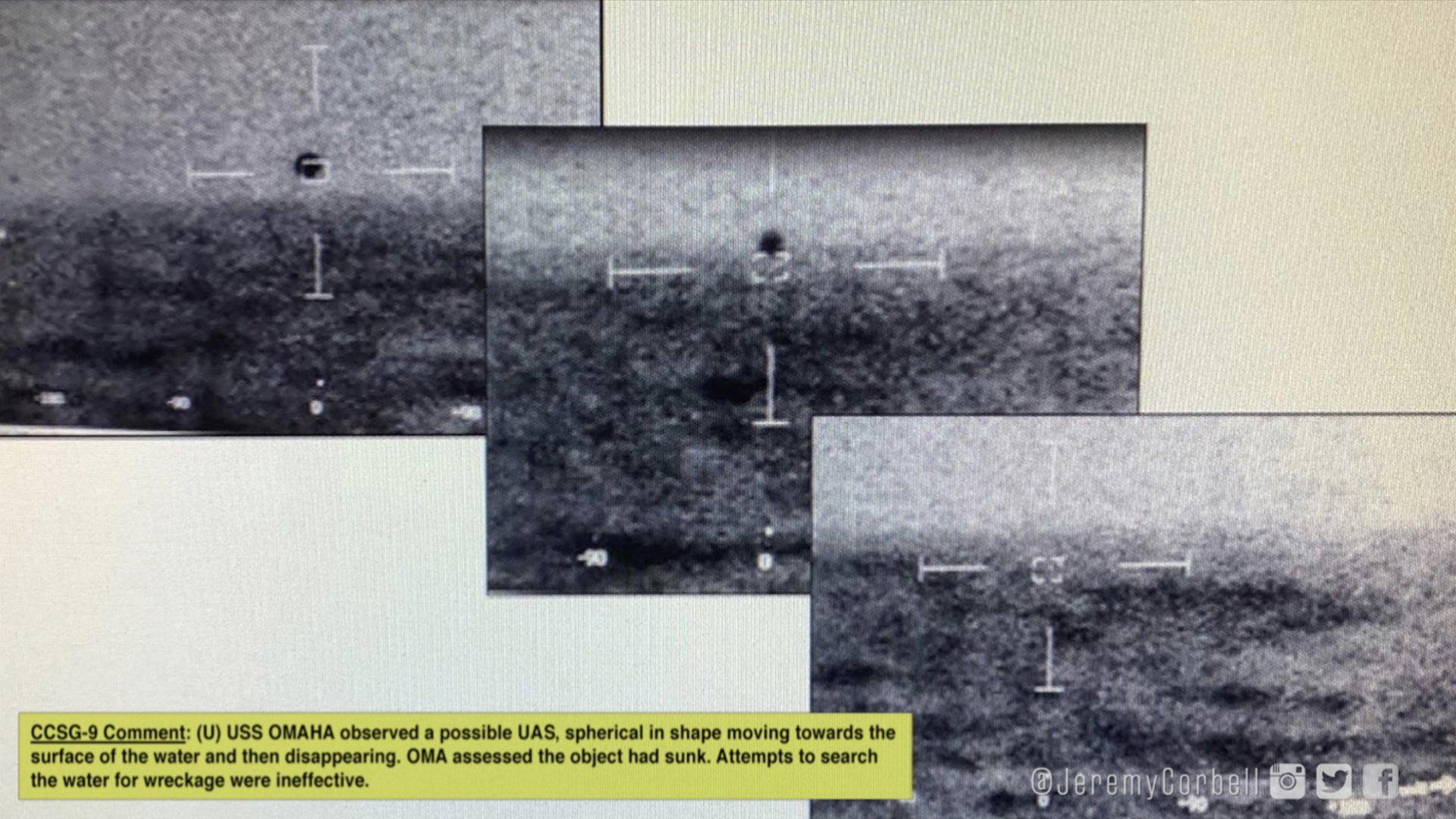 Imagem capturada pela Marinha dos Estados Unidos