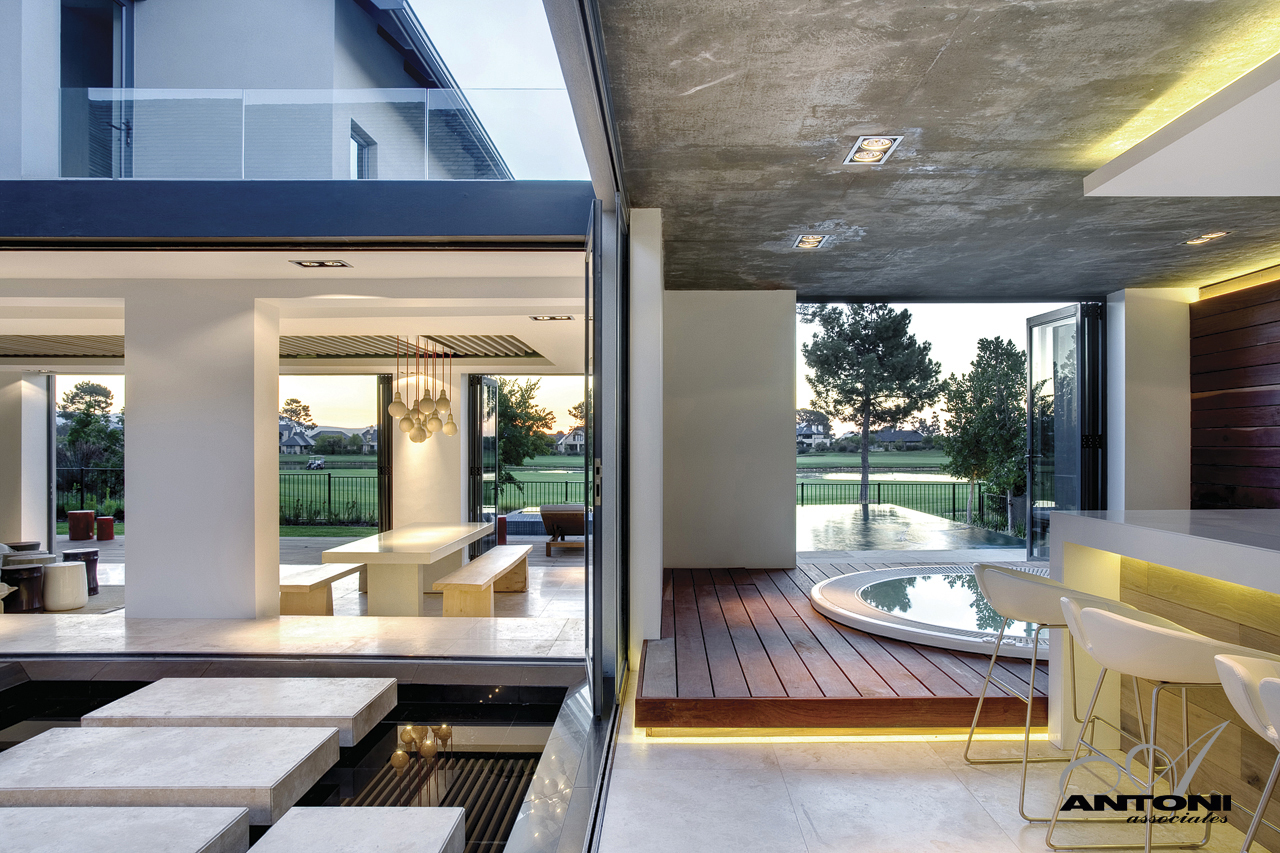Picture of small swimming pool in the modern house