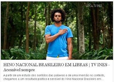 HINO NACIONAL BRASILEIRO EM LIBRAS