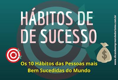 Banner sobre hábitos de sucesso